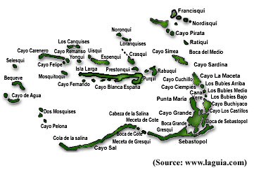 map of los roques